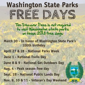 2013 Washington Free Parks Days