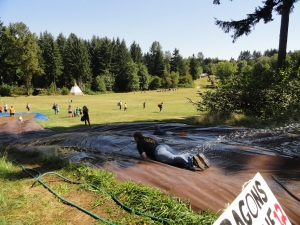 Start with a trip down the 100 foot slip and slide...